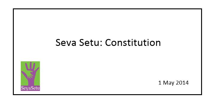 Seva Setu constitution